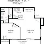 1 bed, 1 bath 861 - update